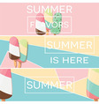 Three modern typographic summer poster designs vector image vector image