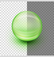 transparent soft gel capsule eps 10 vector image vector image