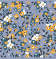 trendy floral seamless pattern and background vector image