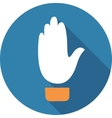 Up hand sign vector image vector image