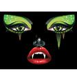 Vampire Makeup2 vector image