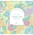 Vintage Greeting Card with Wildflowers vector image vector image