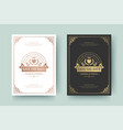 wedding invitation save date card golden vector image vector image
