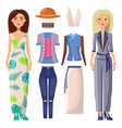 women and clothing set banner vector image vector image