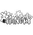 word expression for hangry vector image vector image