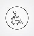 cripple outline symbol dark on white background vector image