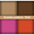 Weaving basket Set of seamless abstract pattern vector image