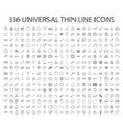 336 universal thin line icon outline web vector image