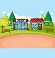 a simple rural shop scene vector image vector image
