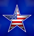 American star badge vector image vector image