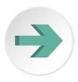 arrow icon circle vector image vector image