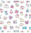 baby icons kids toy for infant boys or vector image vector image