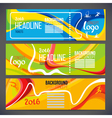 Banners wave bands with different colors are vector image vector image