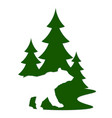 bear with green forest vector image