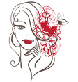 Beautiful woman silhouette vector image vector image