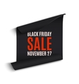 Black rfriday curved paper banner vector image vector image