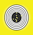 blank target sport for shooting competition vector image vector image
