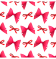 Bows seamless pattern vector image vector image