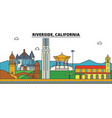 california riverside city skyline architecture vector image vector image