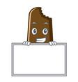 chocolate ice cream character cartoon vector image vector image