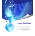 christmas business greeting card with free space vector image vector image
