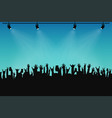 concert crowd people silhouettes hands with vector image vector image