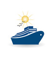 cruise travel icon vector image vector image