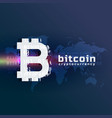 crypto bitcoin currency symbol background vector image vector image