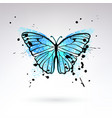 decorative bright blue butterfly vector image vector image