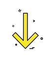down arrow icon design vector image vector image