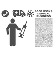 Drug Dealer Icon with 1000 Medical Business vector image vector image