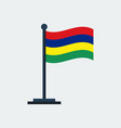 flag of mauritiusflag stand vector image