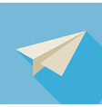 Flat Freelance Paper Plane with Long Shadow vector image