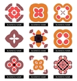 Flat geometric business symbols Icon set vector image vector image