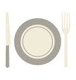 fork knife and plate icon vector image