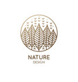 geometrical nature logo vector image