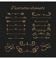 Golden dividers set Ornamental decorative vector image vector image