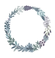 graphic beautiful floral wreath vector image vector image
