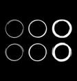 hand drawn circle frame set scribble line circle vector image vector image