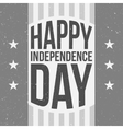 Happy Independence Day festive vintage Background vector image vector image