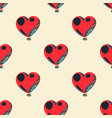 heart shape balloon seamless pattern vector image vector image