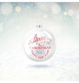 Holliday ball vector image vector image