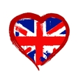 I Love Britain vector image