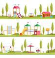 kids playgrounds children outdoor entertainment vector image vector image