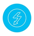 Lightning arrow downward line icon vector image vector image
