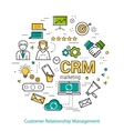 Line Art Concept of CRM vector image vector image