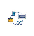 mailing list storage icon vector image