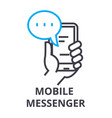 mobile messenger thin line icon sign symbol vector image