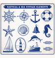 nautical and sea vintage vector image vector image