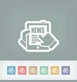 news tablet website vector image